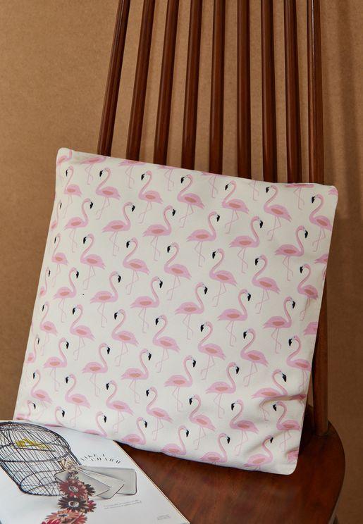 Flamingo Printed Cushion With Insert 45X45 Cm Cush