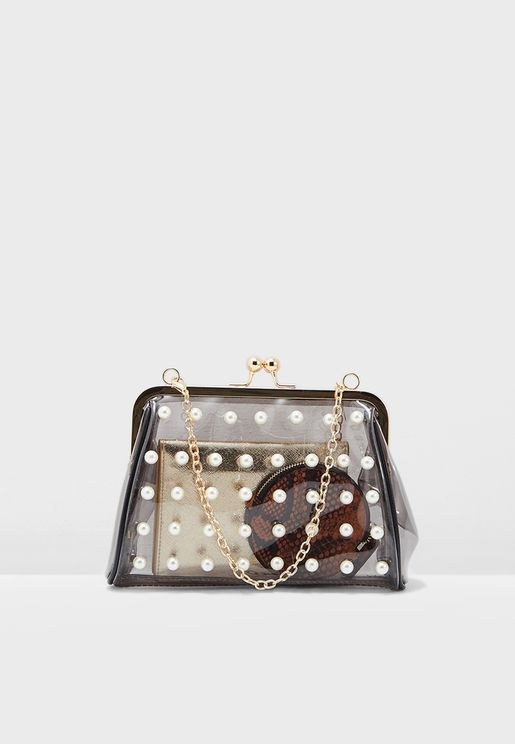 Pearl Detail Clutch