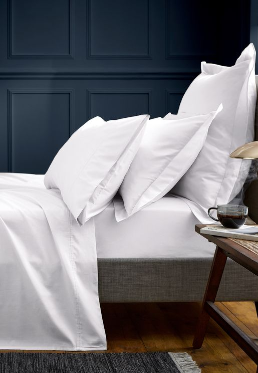 600Tc Egyptian Cotton Plain Emperor Fitted Sheet