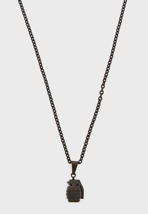 Grenade Pendant Necklace