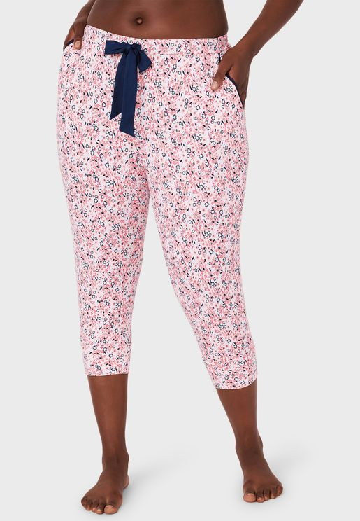Butterfly Print Pyjama Capri
