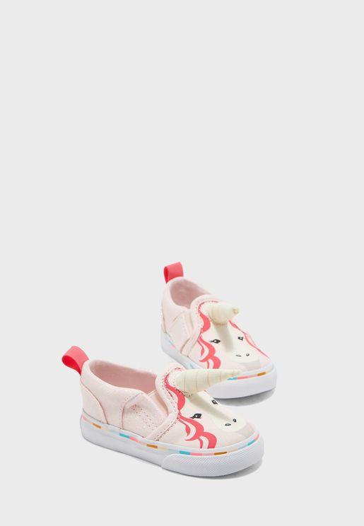 حذاء للبيبي بطباعة وحيد القرن