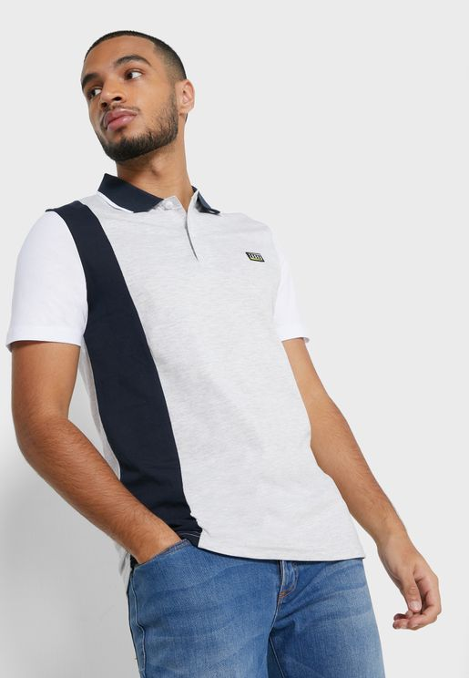 Henric Color Block Slim Fit Polo