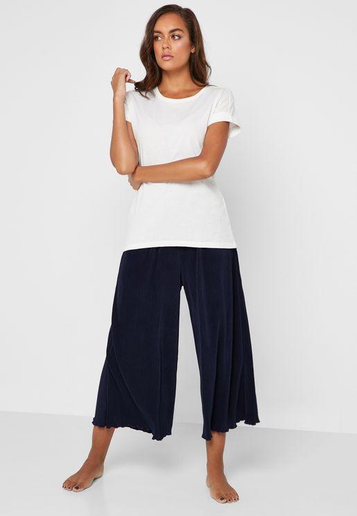 Printed Culottes Night Pants