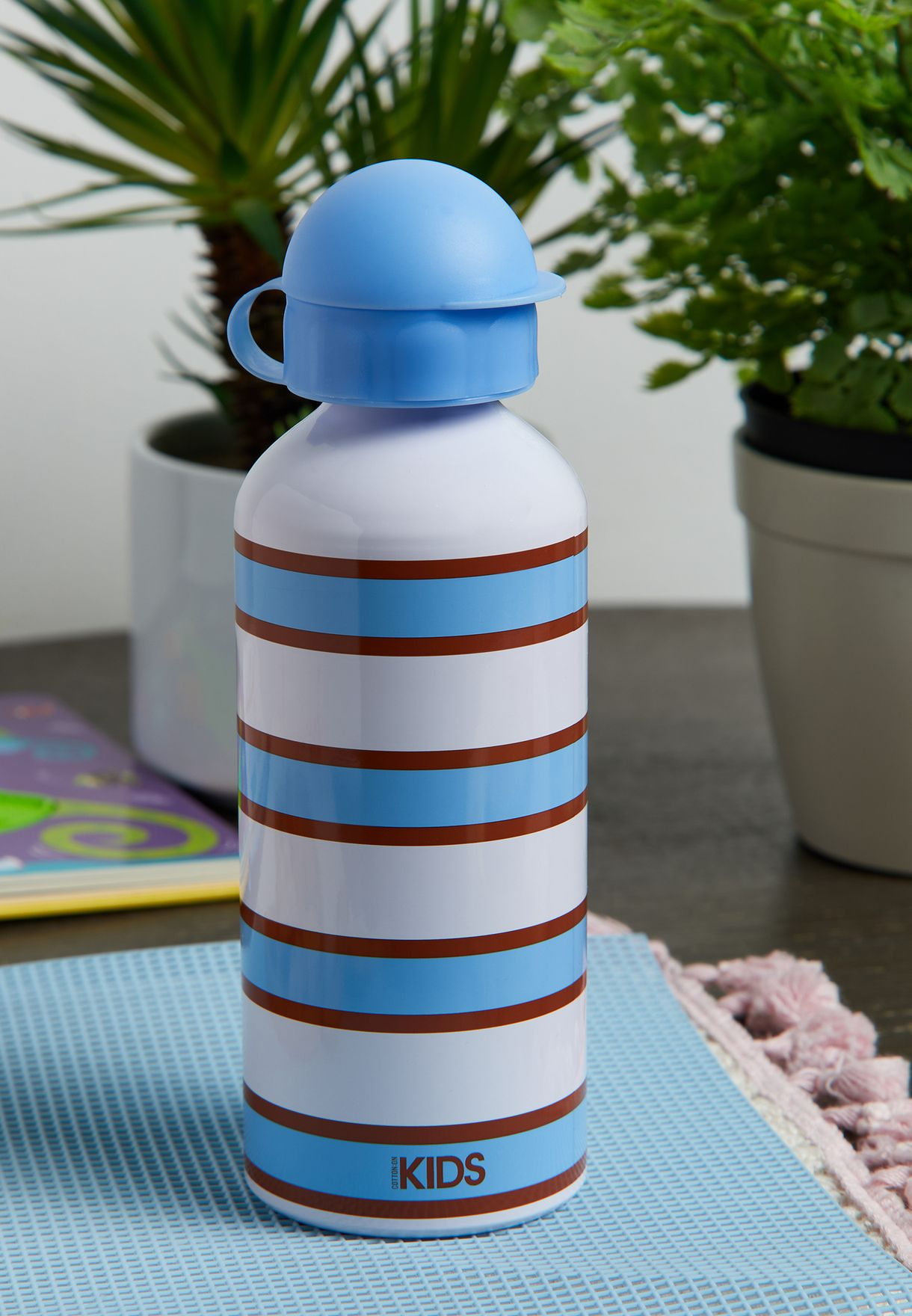 Kids Striped Water Bottle