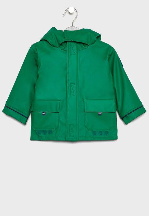 Kids Pocket Detail Hooded Jacket