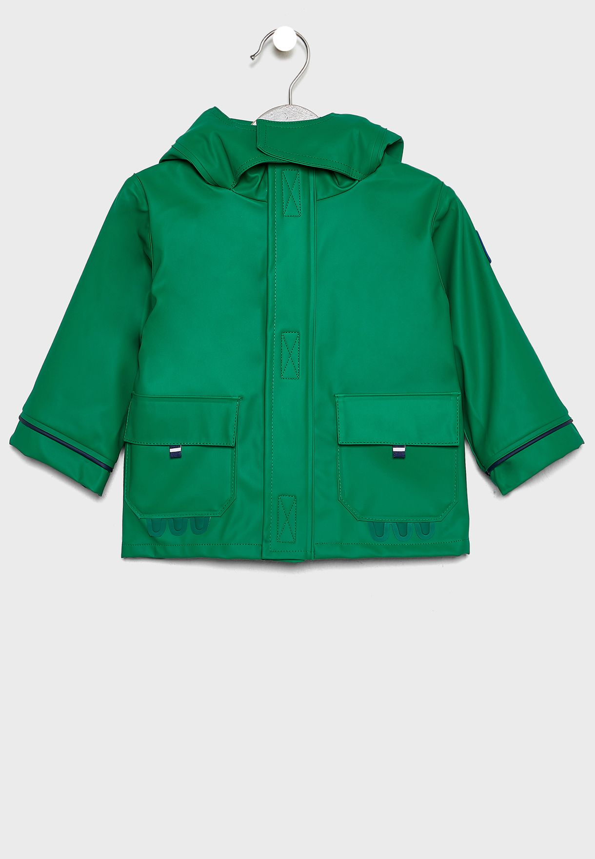 Kids Pocket Detail Hooded Jacket