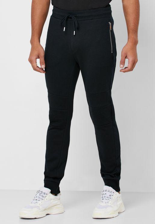 Moto Drawstring Sweatpants