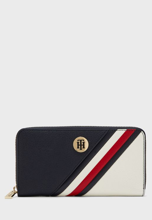 Striped Logo Purse