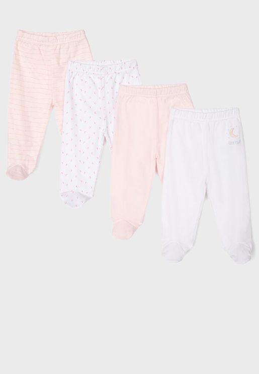 Infant  4 Pack Printed Sweatpants