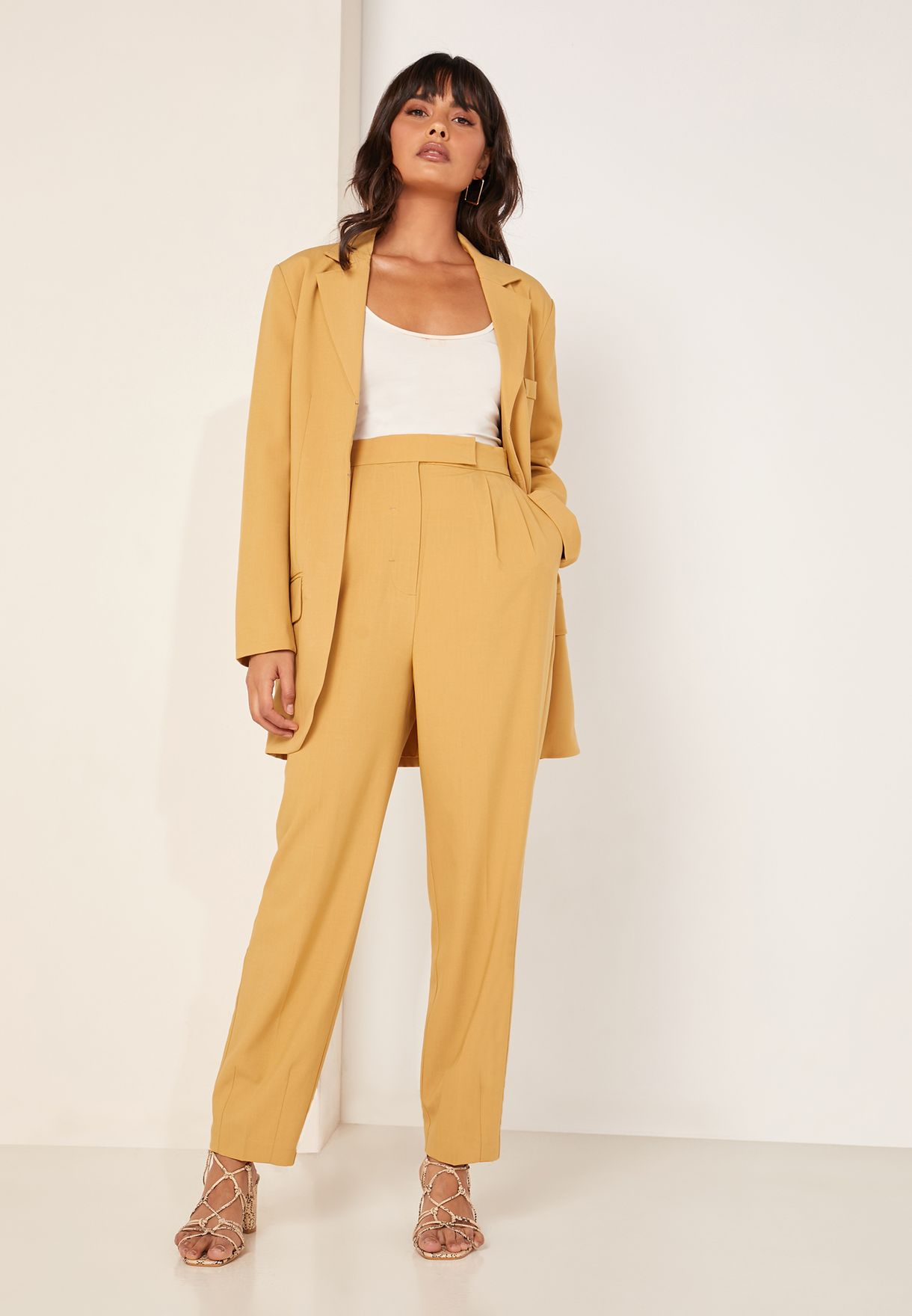 Buy C/meo Collective Yellow Against You Ankle Grazer Pants For Women, Uae 20008at07tpp