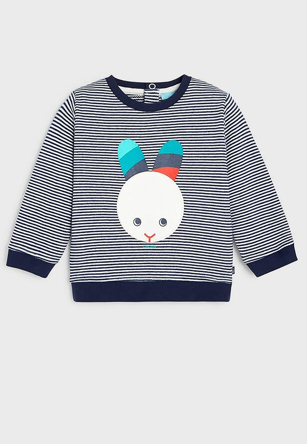 Kids Stripped Fleece Sweatshirt