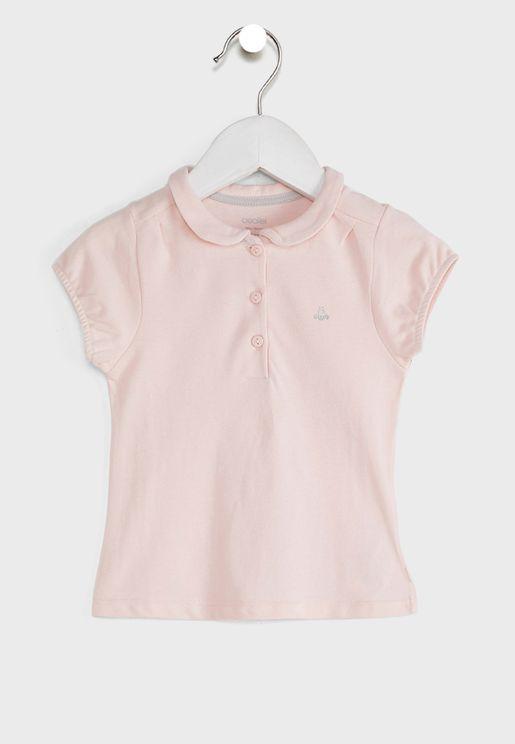 Infant Polka Dot Print Polo