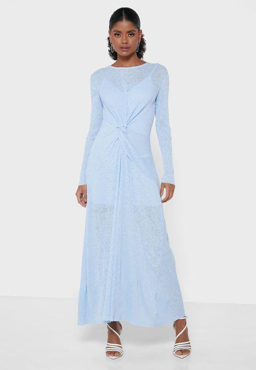 فستان بعقدة امامية