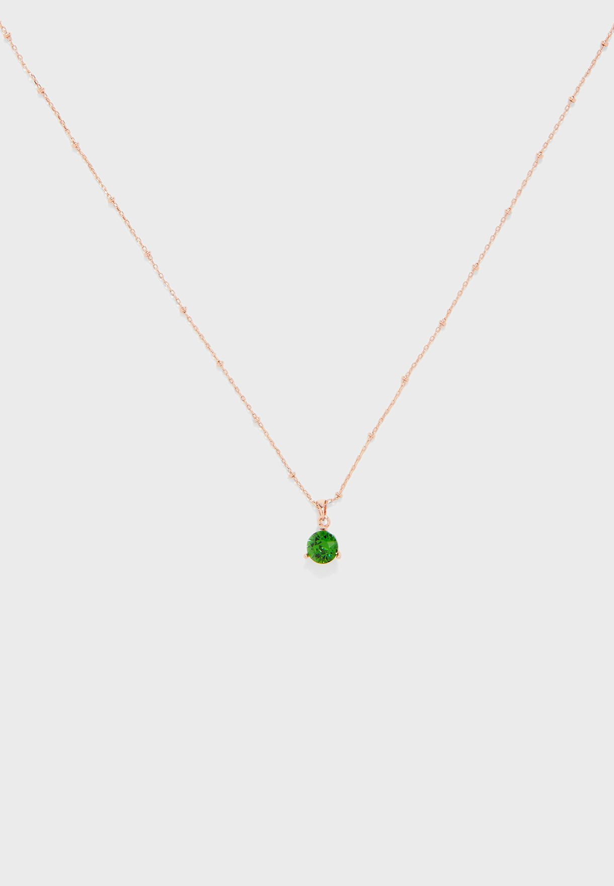 Calta Crystal Candy Solitaire Pendant Necklace
