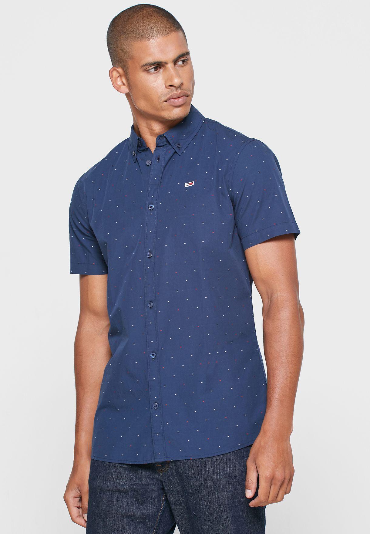 قميص سليم فت مزين بطبعات
