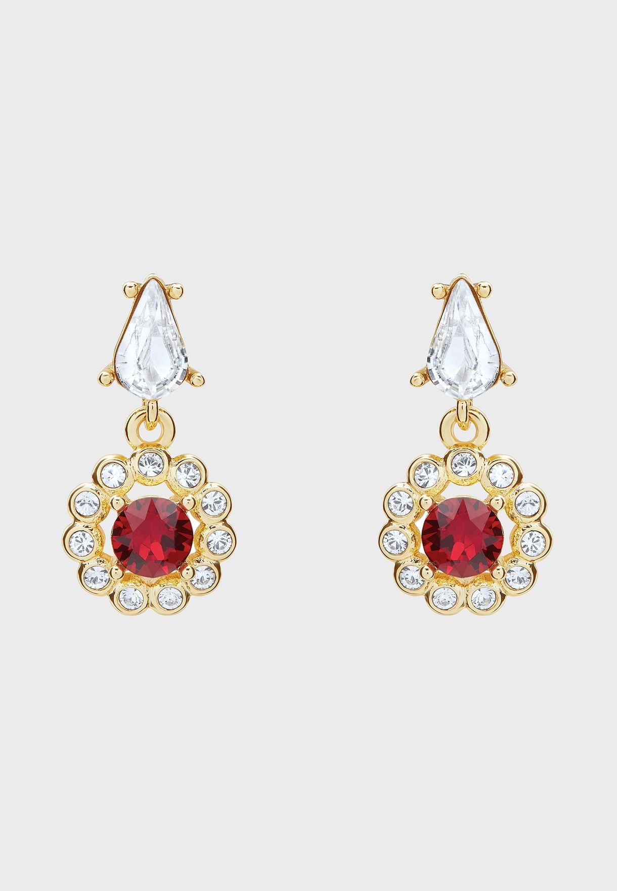 Lranha Daisy Crystal Drop Earrings