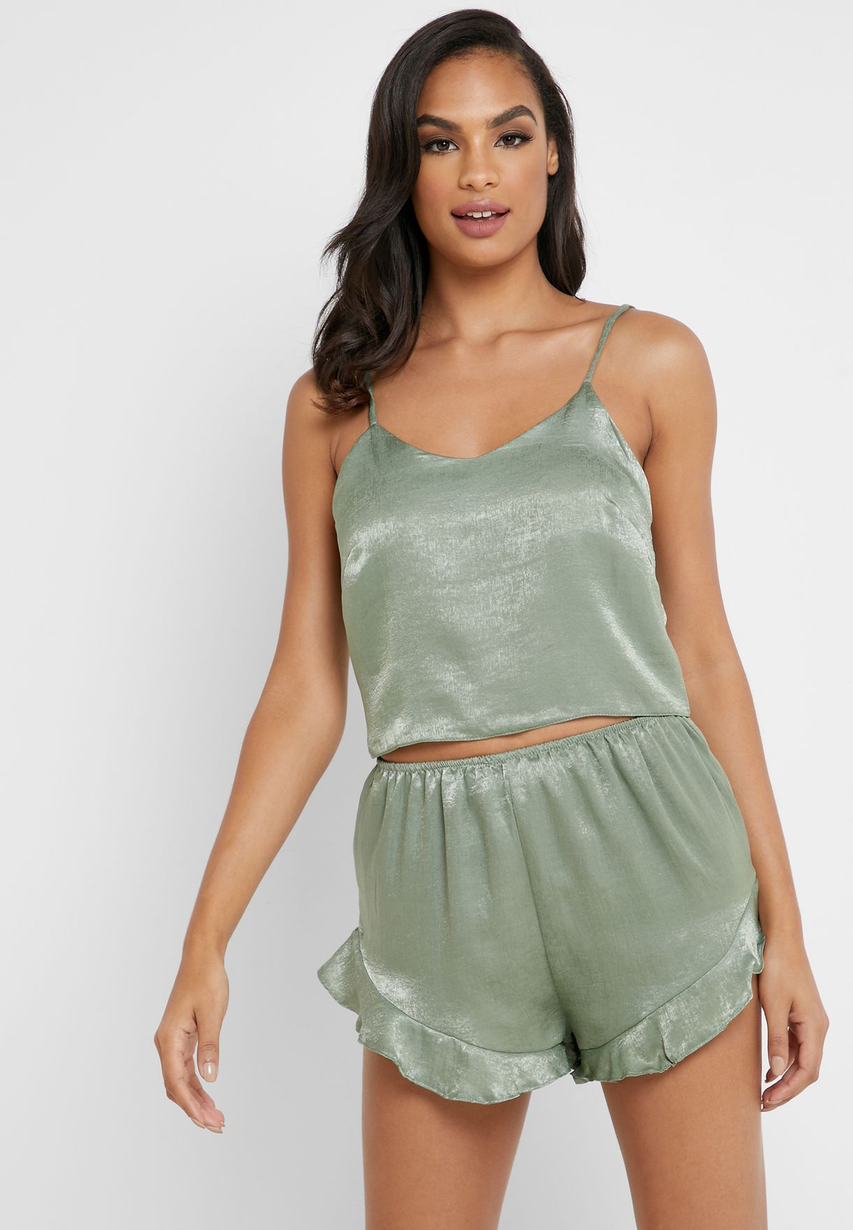 Shimmer Cami Top & Shorts Set
