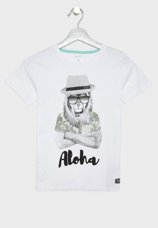 Kids Graphic Organic Cotton T-Shirt