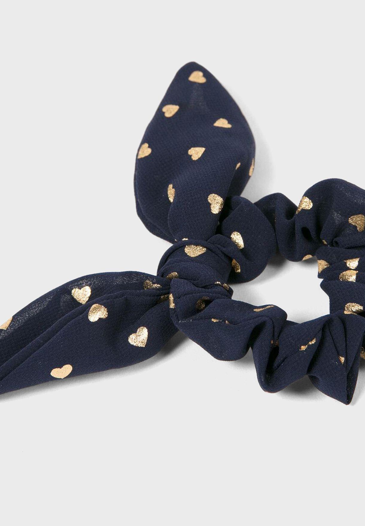 ربطة شعر بطباعة قلوب