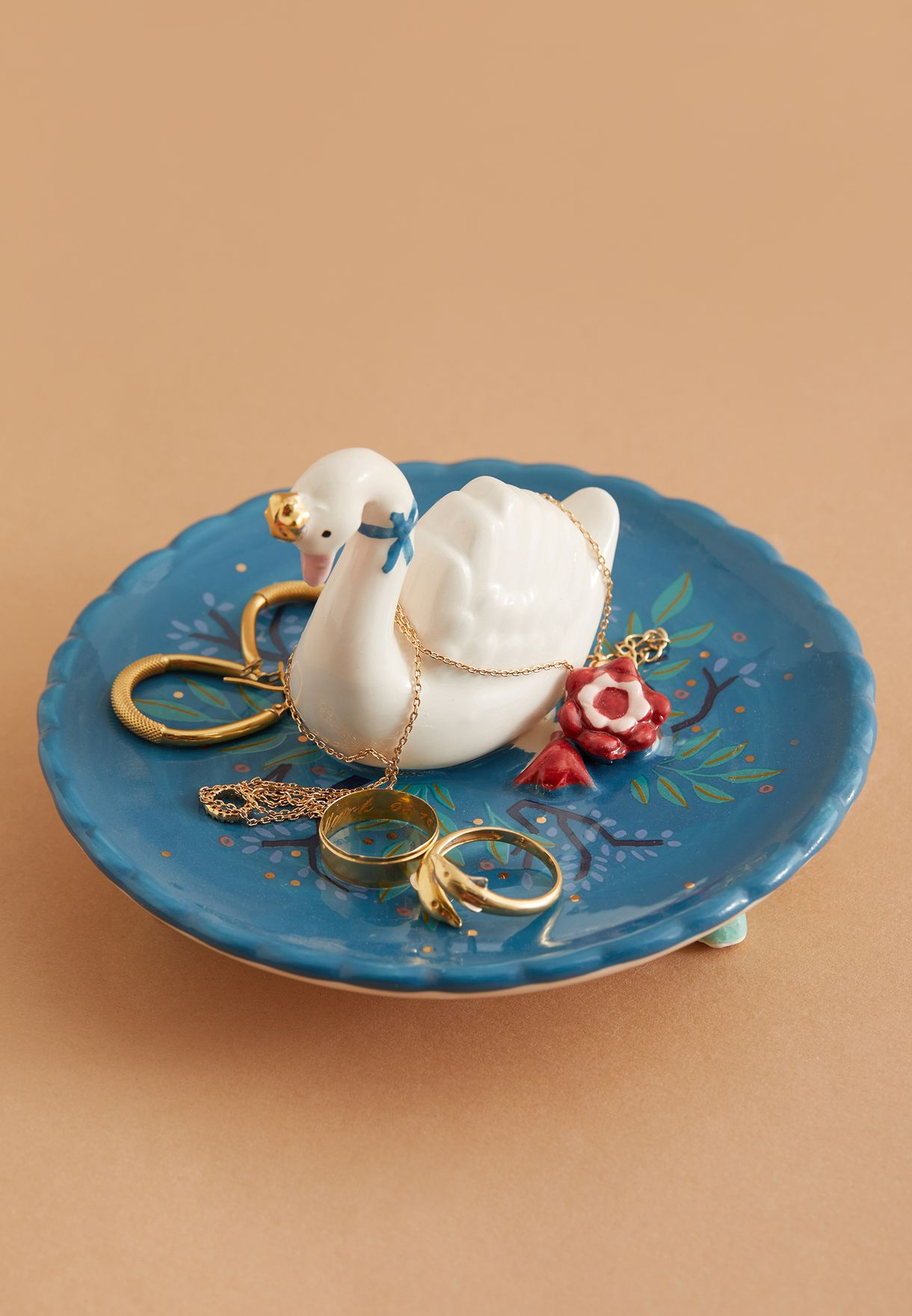 Secret Garden Swan Dish With Gift Box