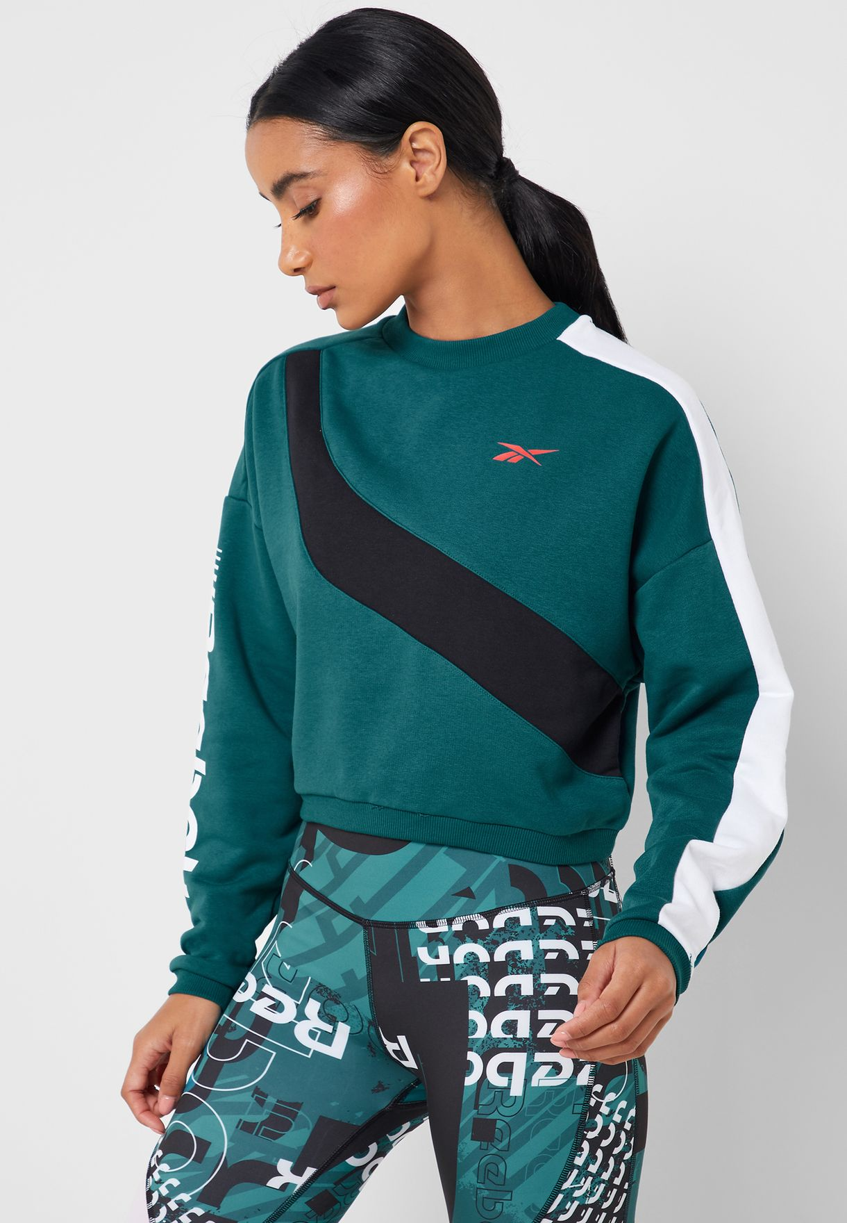 Workout Ready Meet You There Colour Block Sweatshi