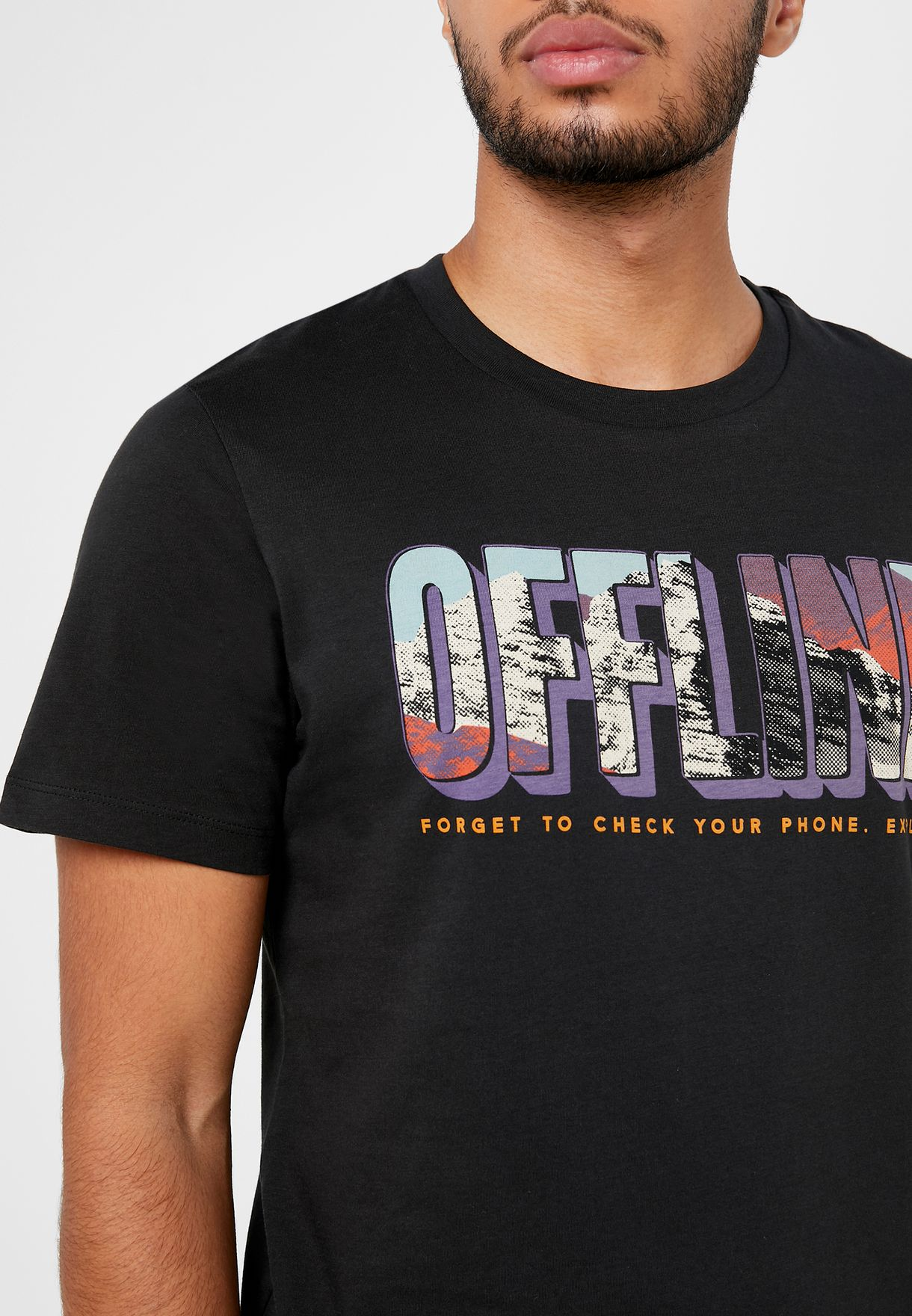 Offline Regular Fit Crew Neck T-Shirt