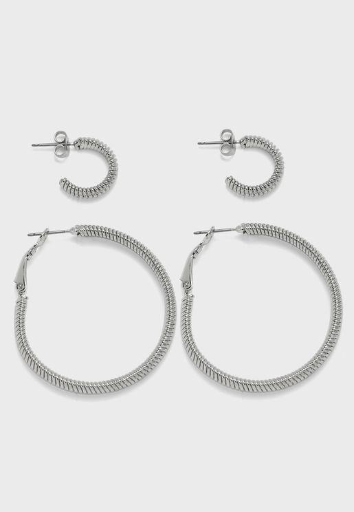 2-Pack Iris Hoop Earrings