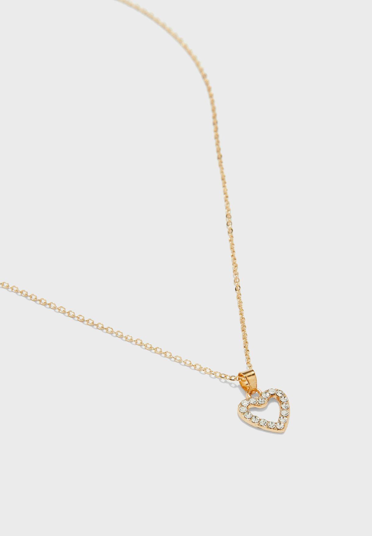 Diamante Heart 3 Piece Set