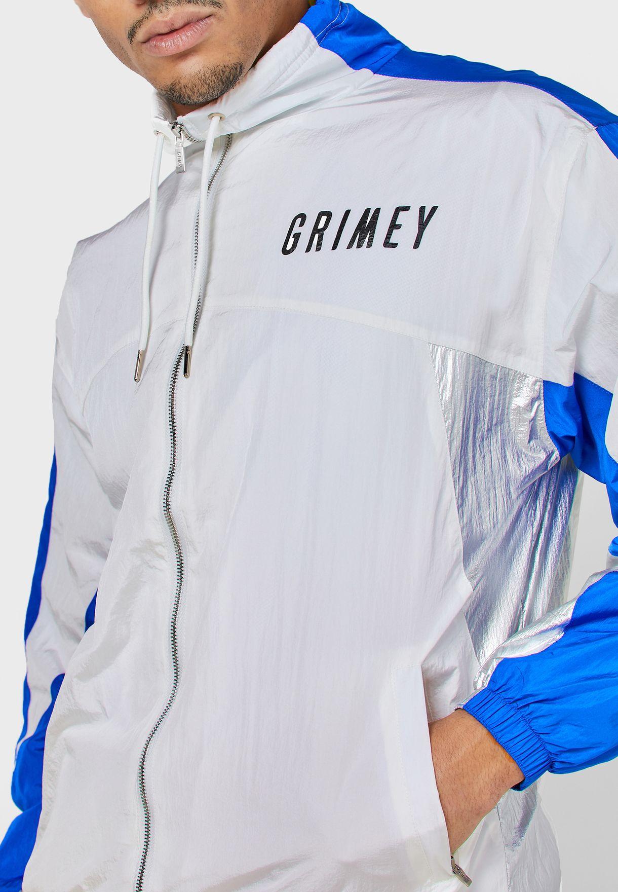 جاكيت بدلة رياضية مزين بشعار الماركة