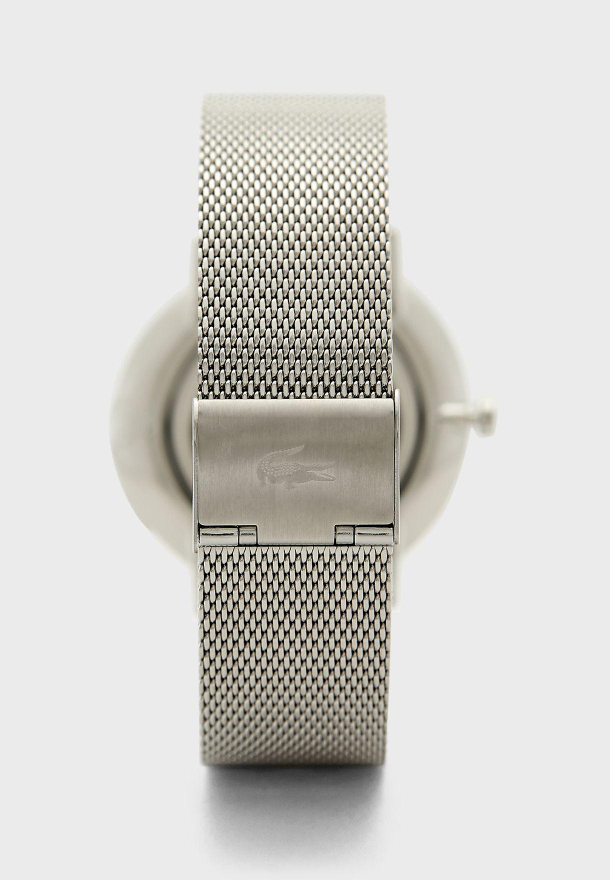 Round Steel Strap Analog Watch