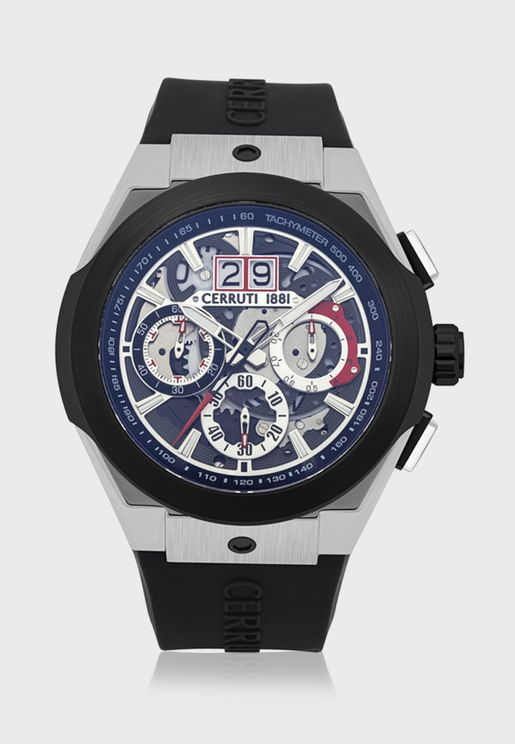 ساعة بحزام من السيليكون C CRWA28702