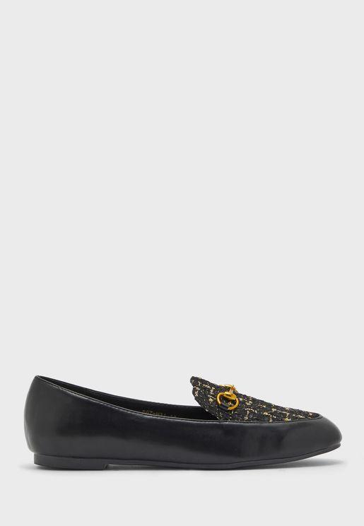 Textured Knit Horsebit Loafer