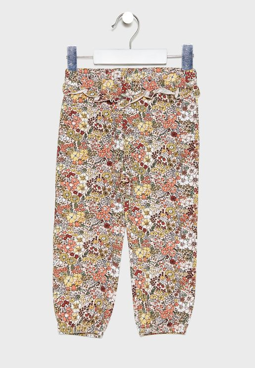 Kids Floral Trousers