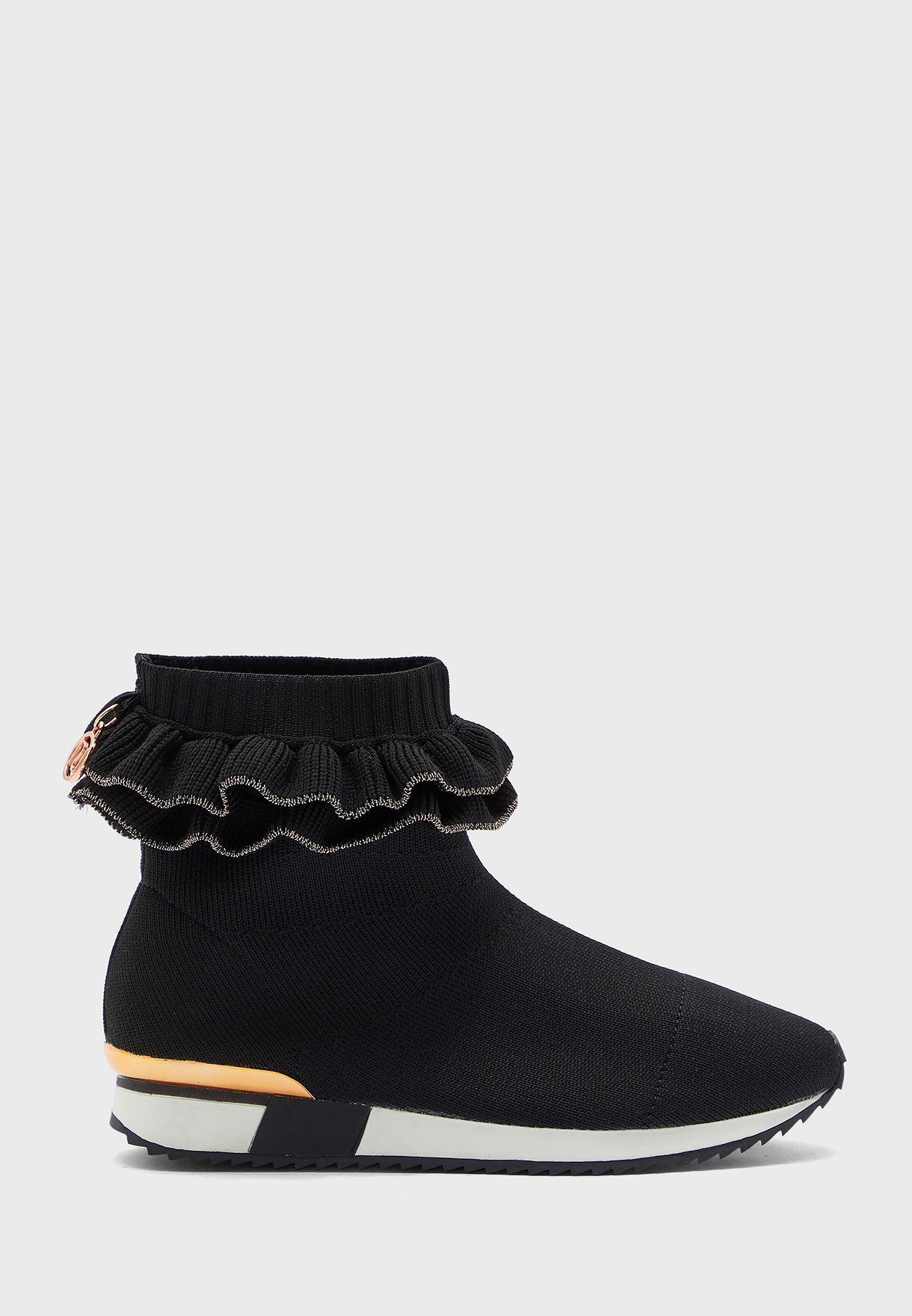 Kids Ruffle Sock Detail Sneaker