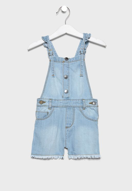 Infant Light Wash Dungaree