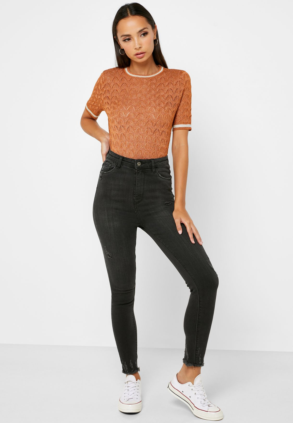 Ringer Knitted Top