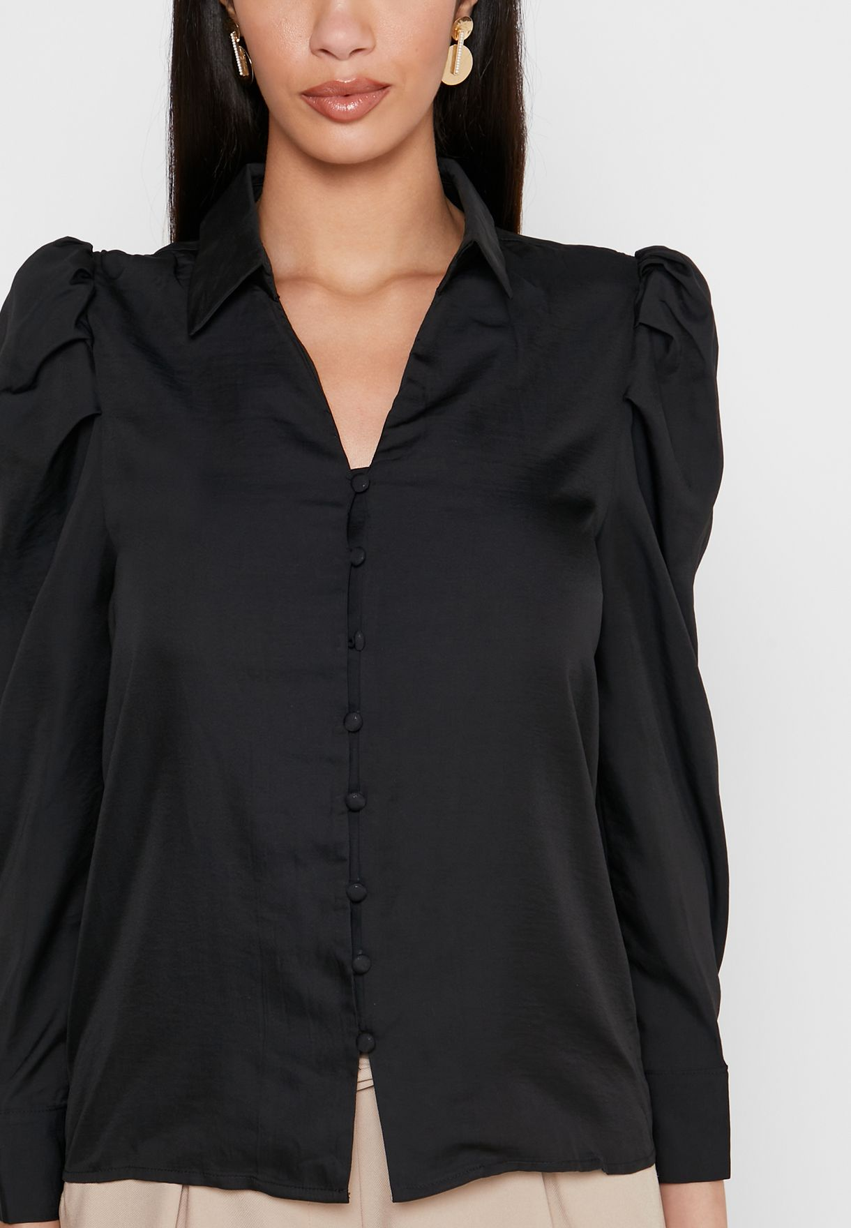 Ruched Shoulder Shirt