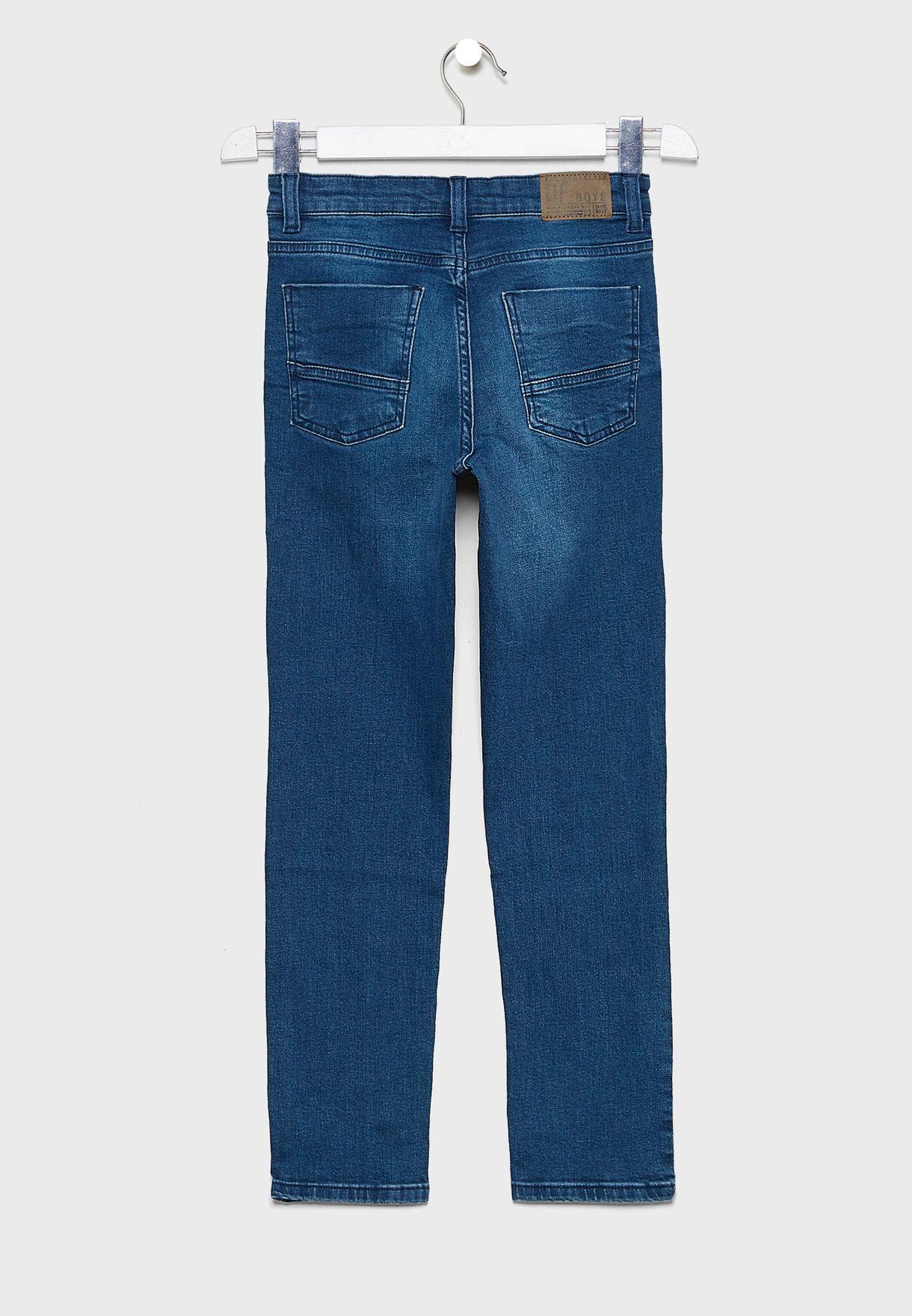 Kids Mid Wash Denim Jeans