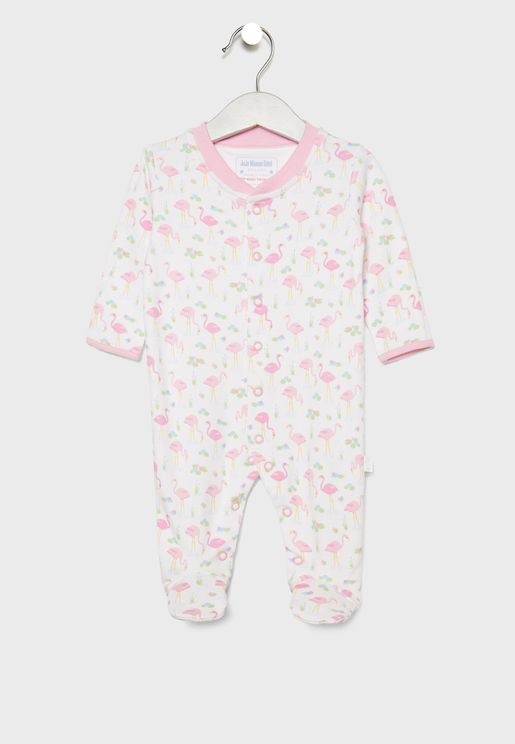Infant Flamingo Print Romper