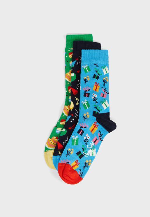 3 Pack Birthday Crew Socks
