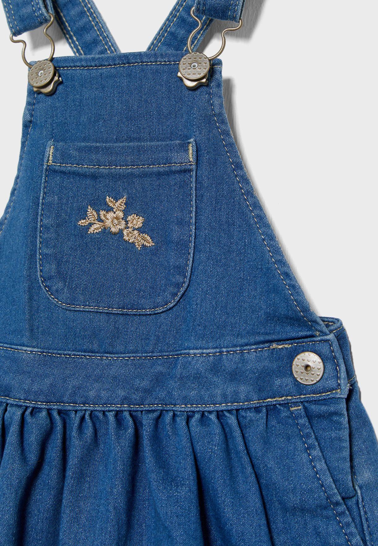 Kids Pocket Detail Bibskirt