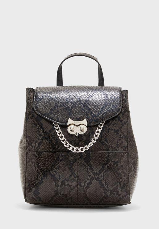 Fluor Fluo Snakeskin Backpack