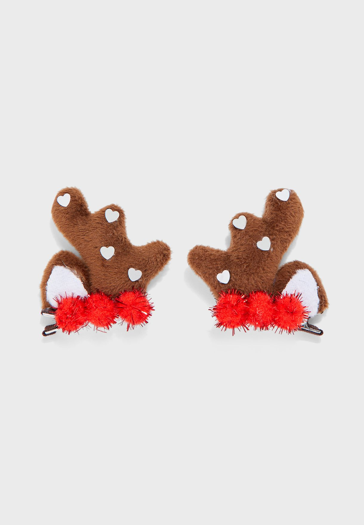 2 Piece Embellished Gator Hair Clips