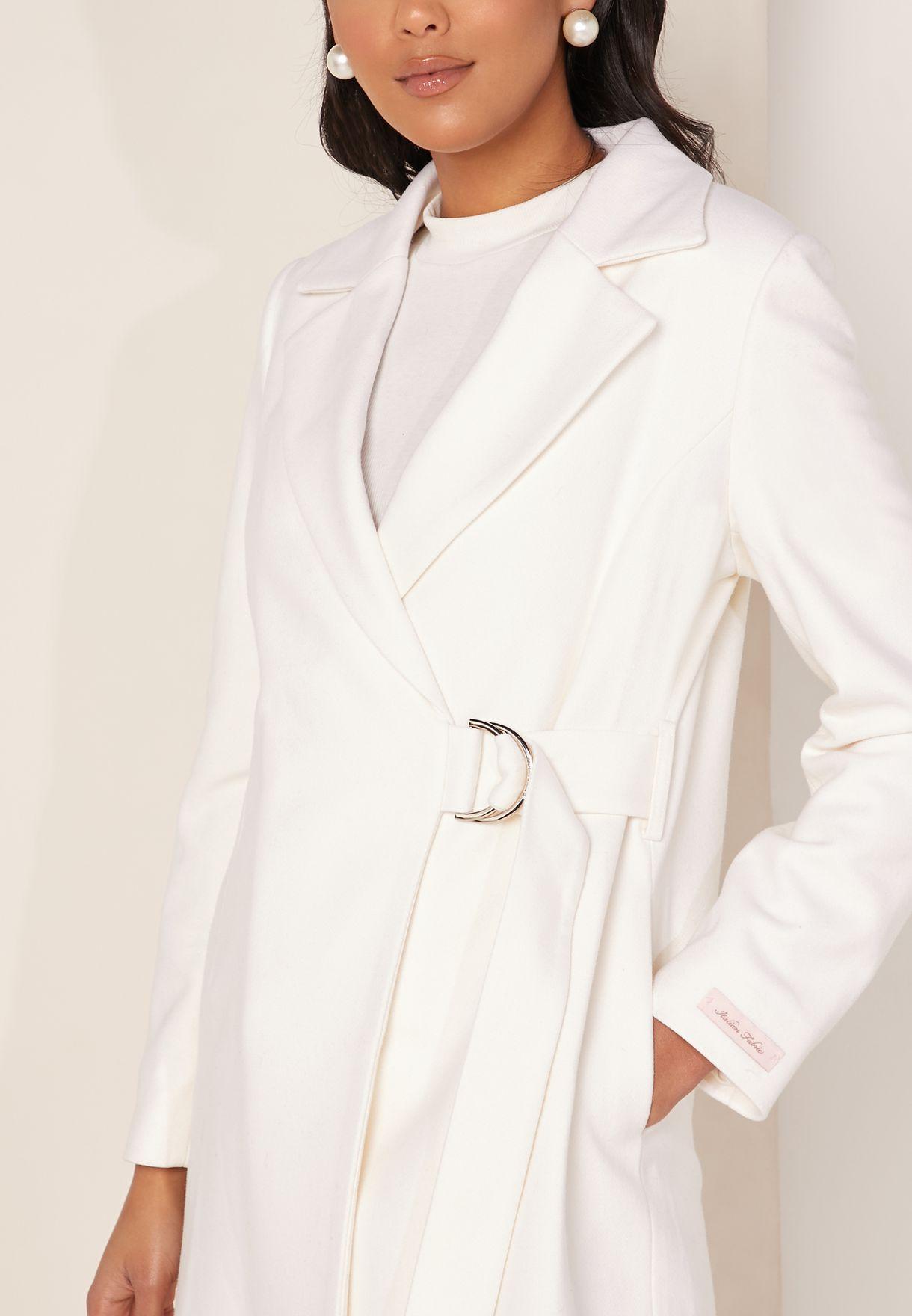 Dezpina D-Ring Wrap Coat