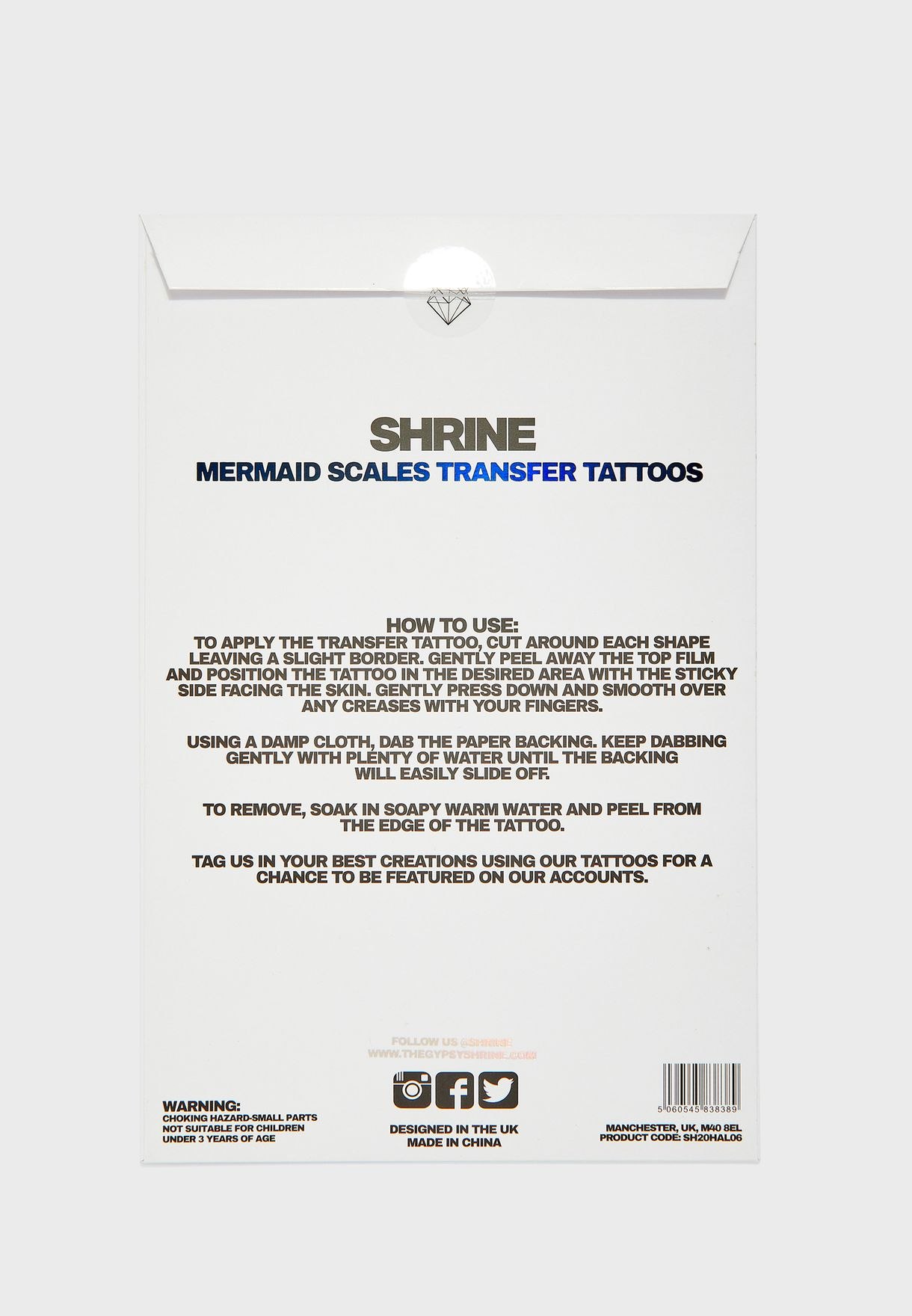 Mermaid Scales Transfer Tattoos