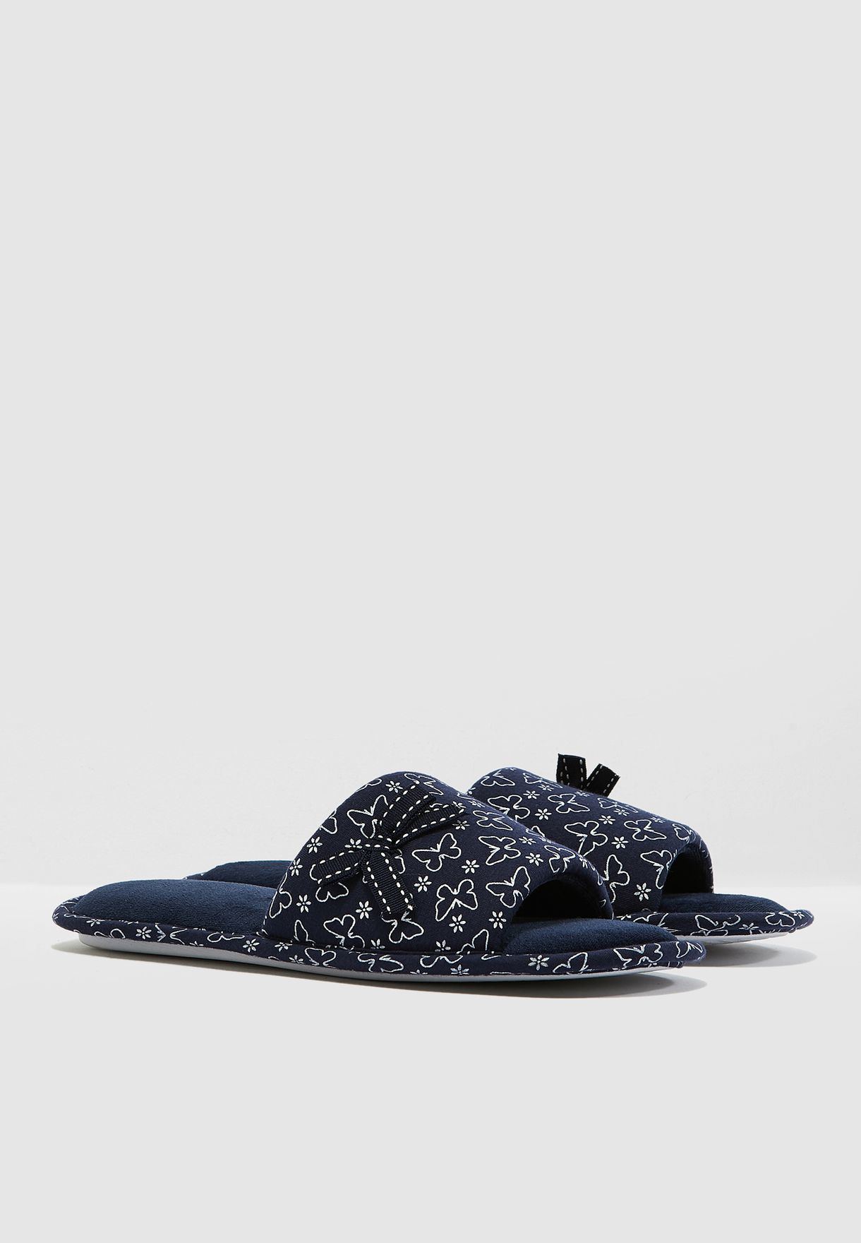 Slippers With Bow Detail