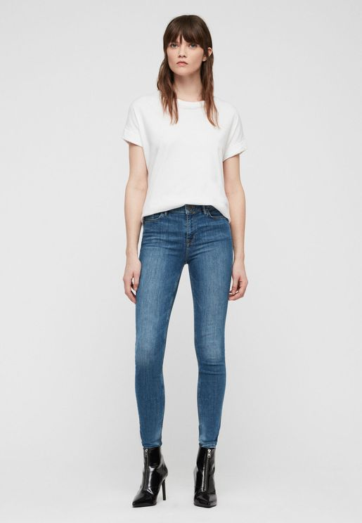 Grace Mid Rise Skinny Jeans