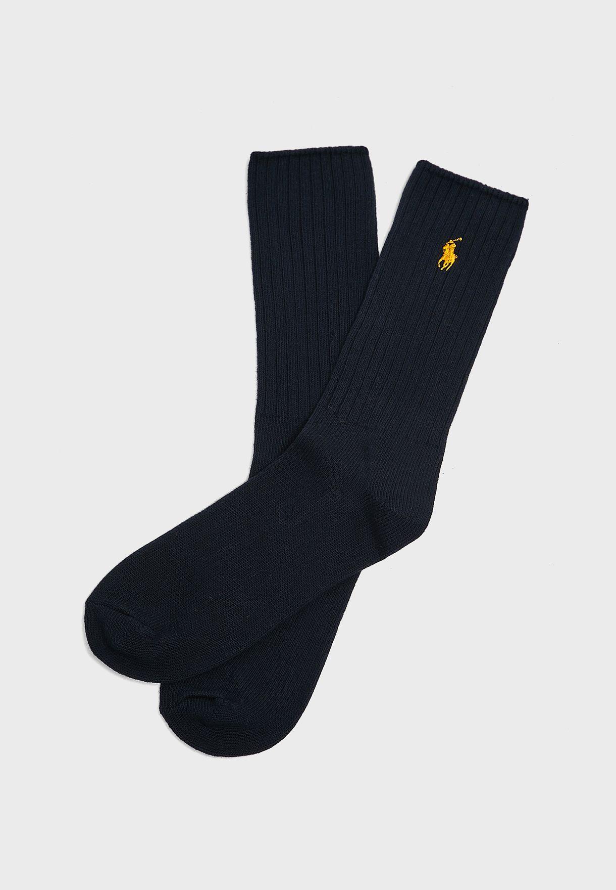 3 Pack Assorted Crew Socks