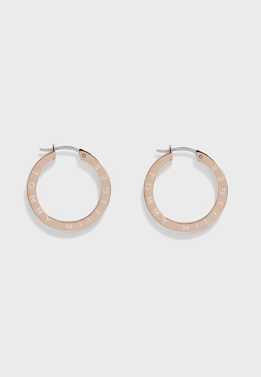 Thin Hoop Earrings